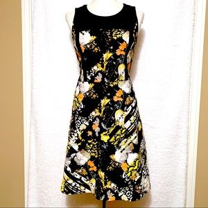 Kenneth Cole Floral Zipper Dress